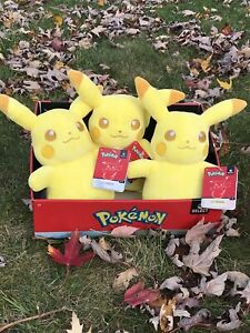 Pokemon Select Shiny Pikachu Family Plush Lot 3x WCT 🔥 NWT