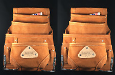 2- PACK 10 pocket carpenter electrician nail & tool bag belt,pouch leather