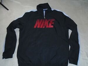 NIKE WOVEN TRACK TOP TRACKSUIT JACKET BLACK RED SIZE XL XLARGE ADULT