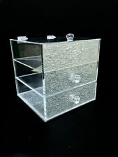 Acrylic Storage Makeup Clear Cosmetic Display Stand Drawer Holder Organizer Box