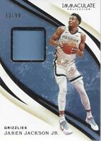 2019-20 Immaculate Collection Swatches #35 Jaren Jackson Jr. Jersey /99 - NM-MT