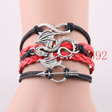 Infinity love Game of Thrones Bracelet Song of Ice and Fire Dragon Sun Charm#388