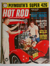HOT ROD VINTAGE MAGAZINE 1963 JANUARY PLYMOUTH 426 FORD CHEVY MOPAR GASSER