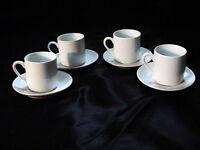 Espresso Cups & Saucers White