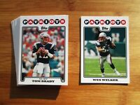 2008 Topps New England Patriots TEAM SET Tom Brady