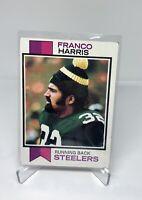 FRANCO HARRIS 1973 TOPPS FOOTBALL ROOKIE CARD #89 STEELERS RC HOF