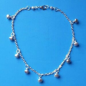 Silver Plated Bells Anklet Beach Summer Holiday Ethnic Belly Dance Gift Wrapped
