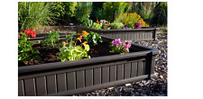 Lifetime 4' x 4' Raised Outdoor Garden Bed Elevated Vegetable Box Planter Brown