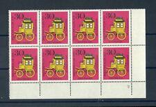 """BUND Nr.516 ** FORMNUMMER """"2"""" Eckrand-8er-Block (100315)"""