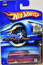 HOT WHEELS 2006 MYSTERY CAR '55 CHEVY PANEL #222 PURPLE FACTORY SEALED