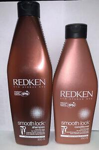 REDKEN smooth lock Shampoo & Conditioner 300ml 250ml
