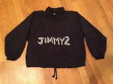 Vintage JIMMY'Z Surf Skate 1990 Big Logo Women's M Black Windbreaker Jacket!