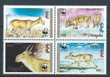 MONGOLIA Sc 2209-12 World Wildlife Fund  Saiga Tatarica