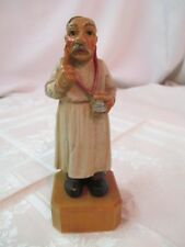 Vintage Italy 1958 Anri Toriart Doctor Wood Carving with Stethoscope