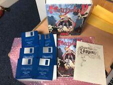 """Utilisé Core Design Limited """"Heimdall"""" boîte et manuels et 7 1/2"""" disque AMIGA GAME"""