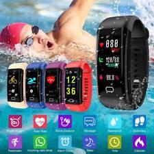Waterproof Smart Wrist Watch Heart Rate Monitor Blood Pressure Fitness Tracker