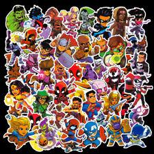 50pcs Cartoon Marvel Super Hero Stickers Water bottle Luggage Laptop Decals Lot