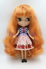 """New 12"""" Neo Blythe Doll from factory Apricot pink mixed hair transparent Face"""