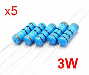 x5 Resistenza a strato metallico 3W 3 WATT 1% 39 Ohm n.5 pezzi - ITALIA