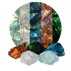 (2,25€/kg) 20 kg bunte Glasbrocken für Gabionen, Glassteine 40-80 mm aus Dtschl