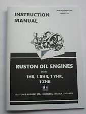 Ruston & Hornsby Instruction Manual for 1HR, 1XHR, 1YHR & 1ZHR