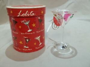 """Lolita Mini-tini """"Fashionista"""" Hand Painted Glass Ornament 10 cm Tall"""