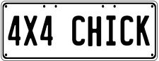 4X4 Chick Number Plate Fathers Day Gift Man Cave Pool Room  Licence Plate