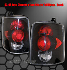 FOR 93-98 JEEP GRAND CHEROKEE REAR TAIL LIGHTS LIGHT BLACK LAREDO SE ORVIS