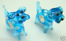 1pcs SILVER MURANO GLASS BEAD LAMPWORK Animal fit European Charm Bracelet g41