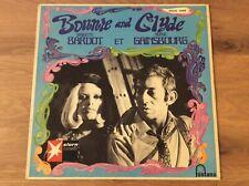 LP 12'' Bonnie and Clyde Brigitte Bardot et Serge Gainsbourg Original 1968