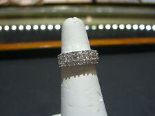 WOMENS DESIGNER FINE WHITE GOLD  DIAMOND RING 2.00 CARATS SIZE 6.75 NEW WOW!
