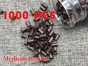 1000PC Extension 6mm Copper Tube Beads Micro Link Rings for Hair Extension