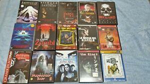 LOTTO 15 FILM DVD ORRORE HORROR (Dario Argento, Lucio Fulci, Clive Barker)