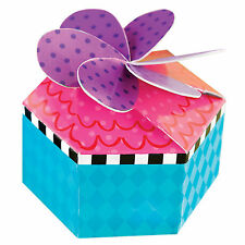 12 Wonderland Mad Hatter Children's Birthday Tea Party Loot Gift Favour Boxes