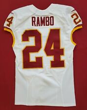 #24 Bacarri Rambo of Redskins NFL Locker Room Game Issued Jersey