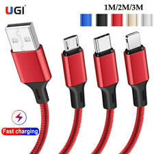 UGI Max 4A Fast Speed Charging Micro USB Type C Cable Charger For Samsung iPhone