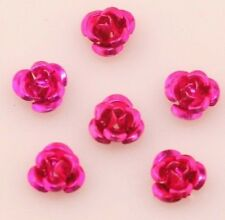 100pcs Flower Rose Aluminum Spacer Bead Jewelry Making Crafts 15Colors