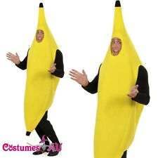 Fun Adult Banana Body Suit Costume Unisex Outfit One Size Fits Most Fancy Dress
