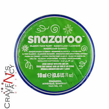 Lime Green Snazaroo 18ml Face & Body Paint Stage MakeUp Fancy Dress Costume New