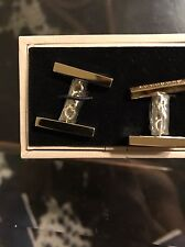 New Authentic Burberry Men Cuff links Chain Stylish Written Logo Gold Tone $295