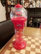 More details for vintage 1997 45cm tall plastic dubble bubble gum sweet dispenser machine red