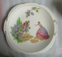"Vintage SWINNERTONS ENGLAND Courting Gents & Crinoline Lady ""MAJESTIC VELLUM"" Rg"