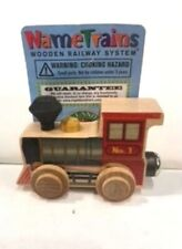 Maple Landmark Train Letters:Classic Engine-New W/Tags!