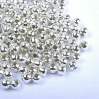 100pcs SILVER PLATED Round SPACER BEADS-Crafts_3.0MM Super Best