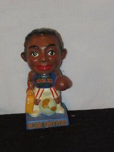 1962 Harlem Globe Trotters Nodder Bobblehead Basketball figure parts blue base