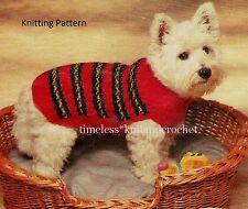 VINTAGE KNITTING PATTERN FOR A SMALL DOG COAT / JACKET - DK