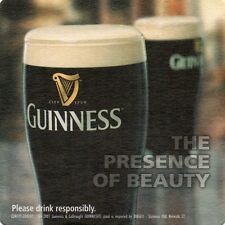 BEER COASTER,GUINESS STOUT,THE PRESENCE OF BEAUTY 2007