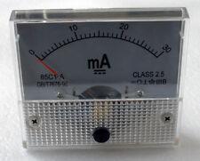 DC 30mA Ampmeter Analog Current Panel Meter Ammeter 0-30mA