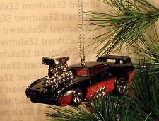 THE JUDGE '69 PONTIAC GTO 1969 BLACK RED HOT ROD DRAGSTER CHRISTMAS ORNAMENT