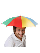 Foldable Novelty Umbrella Sun Hat Golf Fishing Camping Fancy Dress Multicolour